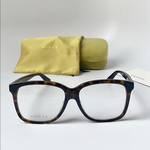 725d1e48a75 Gucci Eyeglasses Square GG0331OA-002 Havana